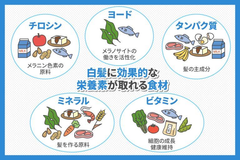 白髪に効果的な栄養素が取れる食材